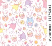 vector seamless pattern with... | Shutterstock .eps vector #583743868