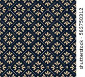 abstract geometric pattern.... | Shutterstock .eps vector #583750312