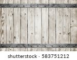 wood with metal texture... | Shutterstock . vector #583751212
