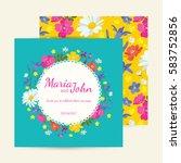 wedding invitation card suite... | Shutterstock .eps vector #583752856