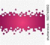 puzzle purple background ... | Shutterstock .eps vector #583760002