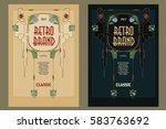 vintage frame design for labels ... | Shutterstock .eps vector #583763692