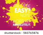 fitness motivation quotes   Shutterstock . vector #583765876