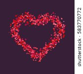 decorative heart. abstract... | Shutterstock .eps vector #583770772