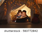 happy family father and child... | Shutterstock . vector #583772842