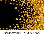 golden stars glitter scattered...   Shutterstock .eps vector #583773766