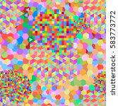 seamless pattern with rainbow...   Shutterstock .eps vector #583773772