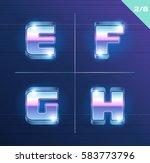 vector 80's style metallic... | Shutterstock .eps vector #583773796