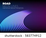 neon lines background with 80s...   Shutterstock .eps vector #583774912