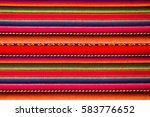 peruvian traditional woven wool ... | Shutterstock . vector #583776652