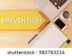 prevention   linear text arrow... | Shutterstock . vector #583783216