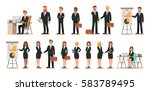 set of business characters... | Shutterstock .eps vector #583789495