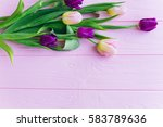 wooden pink background and... | Shutterstock . vector #583789636
