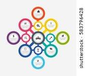 modern infographic timeline... | Shutterstock .eps vector #583796428