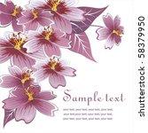 romantic flower background | Shutterstock .eps vector #58379950