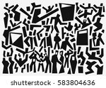 people abstract background  ... | Shutterstock .eps vector #583804636