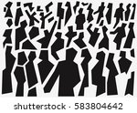 people abstract background  ... | Shutterstock .eps vector #583804642
