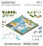flat 3d isometric iclinic... | Shutterstock .eps vector #583811002