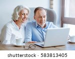 cheerful couple resting in the... | Shutterstock . vector #583813405