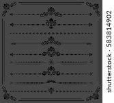vintage set of dark vector... | Shutterstock .eps vector #583814902