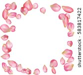 spring flower petals blossoms... | Shutterstock .eps vector #583817422