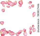 spring flower petals blossoms... | Shutterstock .eps vector #583817446