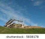 the wooden framework of a new...   Shutterstock . vector #5838178