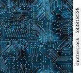 Deep Blue Electronic Circuit...