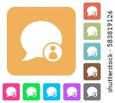blog comment sender flat icons... | Shutterstock .eps vector #583819126