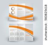 brochure mock up design... | Shutterstock .eps vector #583825618
