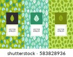 vector set of design elements... | Shutterstock .eps vector #583828936