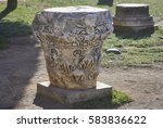 historical artefact of roman... | Shutterstock . vector #583836622