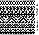 seamless ethnic and tribal...   Shutterstock .eps vector #583841146