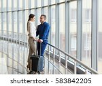 couple in love on vacation.... | Shutterstock . vector #583842205
