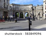 Small photo of LONDON, GREAT BRITAIN - MAY 12, 2014: Admiralty Arch is a three-arch Arch between Trafalgar Square and The Mall.