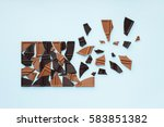 chocolate explosion. dark and... | Shutterstock . vector #583851382