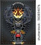 vintage motorcycle label | Shutterstock .eps vector #583854076