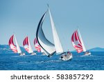 Sailing Boat With Black And...