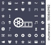 film icon. movie set of icons   Shutterstock .eps vector #583860982
