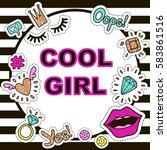 """fashion poster """"cool girl"""" with ... 