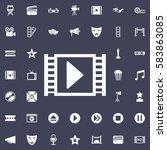film or media icon. movie set...   Shutterstock .eps vector #583863085