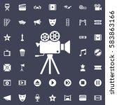cinema camera icon. movie set... | Shutterstock .eps vector #583863166