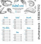 hand drawn vector illustration  ... | Shutterstock .eps vector #583867552
