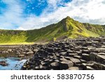 Giant's causeway in a beautiful ...