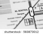 bangsar station. kuala lumpur... | Shutterstock . vector #583873012