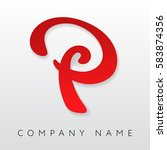 abstract letter p logo template