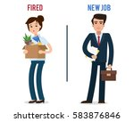 dismissed office worker with... | Shutterstock .eps vector #583876846