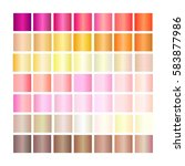 set of gradients. collection... | Shutterstock .eps vector #583877986