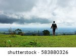 storm is coming. backpackers... | Shutterstock . vector #583880326