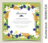 frame happy birthday card....   Shutterstock .eps vector #583881526
